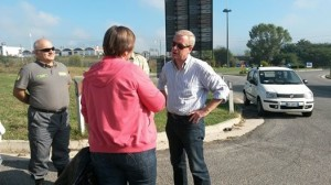 Fausto Bassetta, Olga Kozarova e una delle guardie ambientali di Fiuggi.  Organizzazione, prima di tutto!