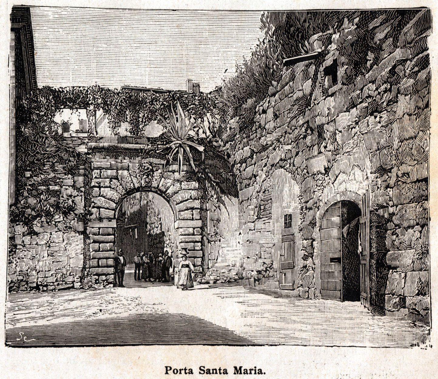 porta s. maria stampa 1898