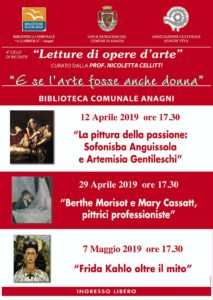 Letture opere d'arte aprile 2019